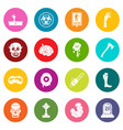 zombie icons many colors set vector image vector image