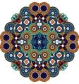 Pretty geometric design colored orange and blue vector image