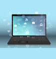 a black laptop realistic vector image