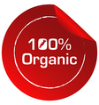 A red round template with an organic label vector image vector image