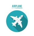 Airplane over circle design vector image vector image