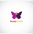 beauty butterfly colored logo vector image vector image