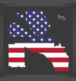 boise idaho city map with american national flag vector image vector image