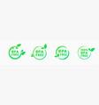 bpa free icons no bisphenol a and phthalates vector image vector image