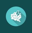 brainstorming icon symbol of vector image
