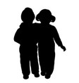 brother and sister hug vector image vector image