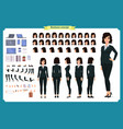 businesswoman character designbusiness girl vector image