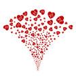 cardiology fountain stream vector image vector image