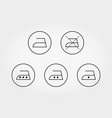 care of clothes ironing icon line vector image
