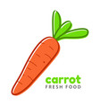 carrot fresh food logo design template vector image