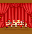 choir children singing a song on stage vector image
