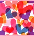 colorful heart shape seamless pattern cartoon vector image vector image