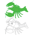 Crawfish vector image