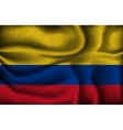 crumpled flag of Colombia a light background vector image vector image