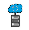 data base server cloud connection hosting info vector image