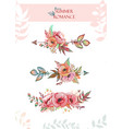 decorative arrows decorated with poppy flowers and vector image vector image