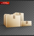 delivery box on transparent background vector image