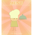 Design of kids menu vector image vector image