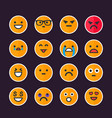 emoticons emoji set vector image
