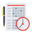 exam or test icon vector image vector image