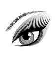 eye blue winking vector image vector image