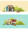 Family Home Traditional and Modern House vector image vector image