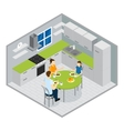 Family Meal Isometric Design vector image