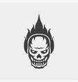 ghost skull icon logo vector image vector image