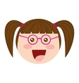 girl cute isolated icon vector image