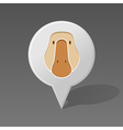 Goose pin map icon Animal head vector image vector image