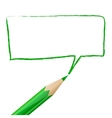 Green speech bubble drawn with pencil vector image vector image