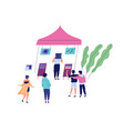 group people at musical fair or festival men vector image vector image
