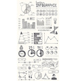 Hand drawn infographic elements vector image vector image