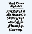 hand drawn sketch alphabet vector image vector image