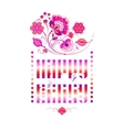 Happy Birthday lettering in pink vector image vector image