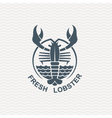 Icon with lobster vector image