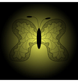 iron patterned silhouette of butterfly vector image