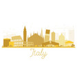 italy skyline golden silhouette vector image vector image