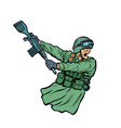 kick gun butt soldiers at war vector image vector image
