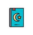 koran quran holy book for muslims flat color vector image