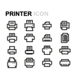 Line printer icons set