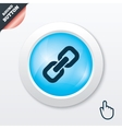 Link sign icon Hyperlink symbol vector image vector image