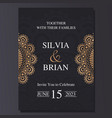 luxury and elegant wedding invitation card with vector image