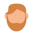man with beard avatar faceless head vector image vector image