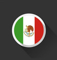 mexico national flag on dark background vector image vector image