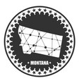 montana state map vector image vector image
