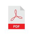 pdf format file vector image