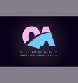 qa alphabet letter join joined letter logo design vector image vector image