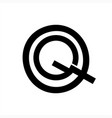 qg gq gqo initials letter company letter vector image vector image