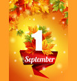 quality design september 1 decoration holiday vector image vector image